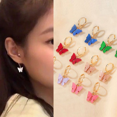 [UNISEX] BLACKPINK/JENNIE st. MOTHER-OF-PEARL BUTTERFLY PIERCE (12clor)