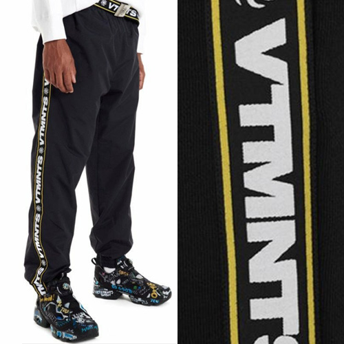 [UNISEX] SIDE TAPE LOGO NYLON PANTS (2color)