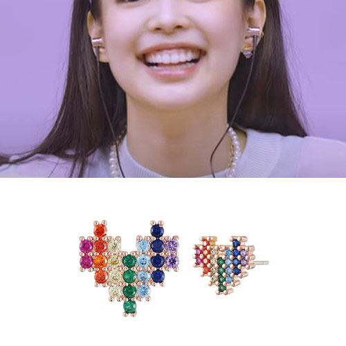 BLACKPINK/JENNIE st. RAINBOW CUBIC UNBALANCE PIERCE (3color)