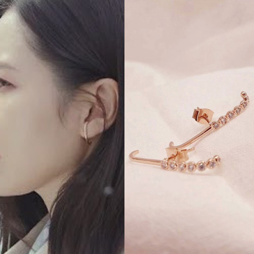K-drama[Crash landing on you]Son Yejin st. HALF CUBIC EAR CUFF (2color)