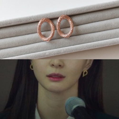 K-drama[Itaewon class] st. CRUNCH RING PIERCE (2color)