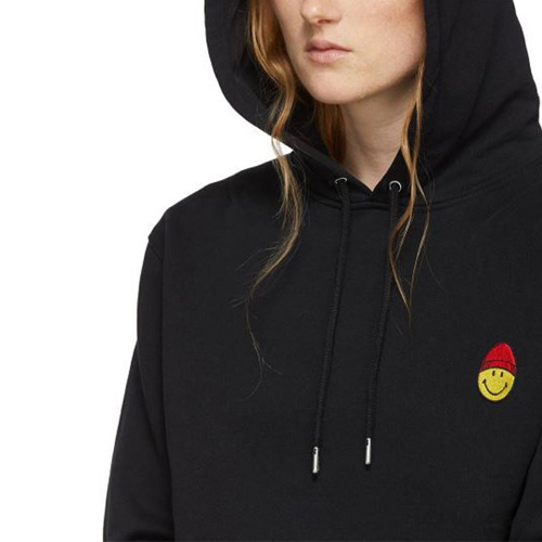 [UNISEX] BEANIE SMILEY PATCH HOODIE (3size)
