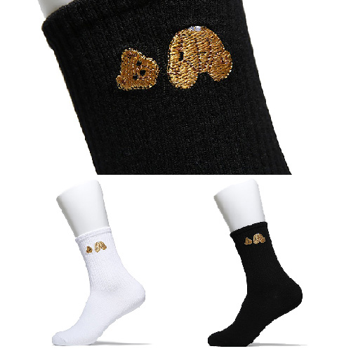 [UNISEX] CUTTING HEAD BEAR SOCKS (2color)