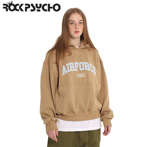 【ROCK PSYCHO】AIRFORCE HOODIE -beige