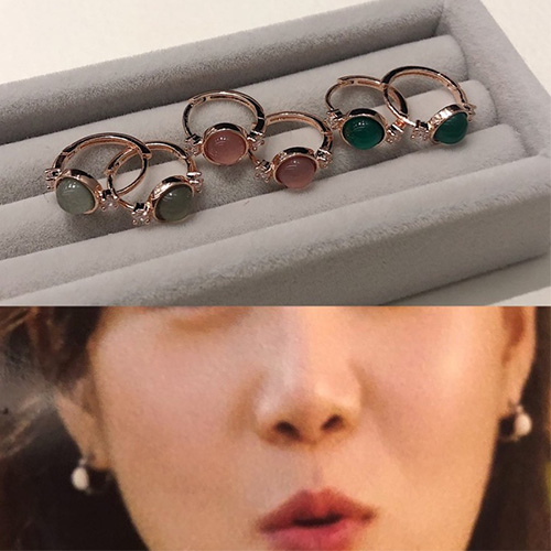 When the camellia blooms/Gong Hyojin st. MINI STONE PIERCE (3color)