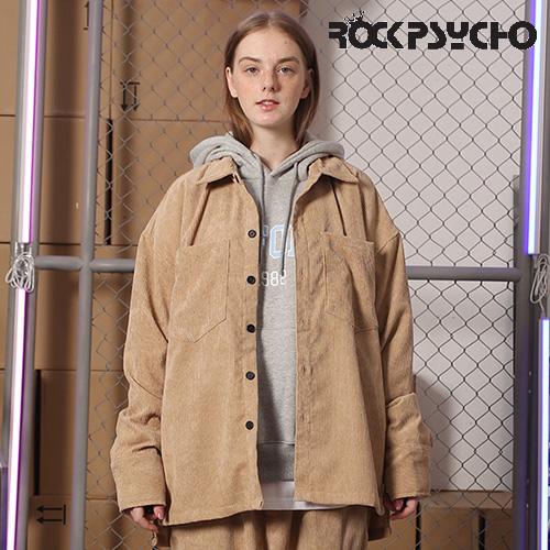 【ROCK PSYCHO】CORDUROY SHIRTS -beige