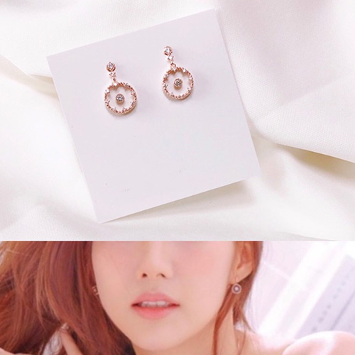 Park Minyoung st. CLEAR STONE PIERCE (2color)