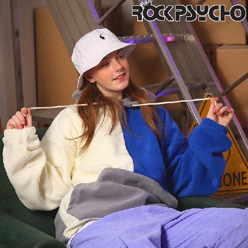 【ROCK PSYCHO】FLEECE COLOR BLOCK HOODIE