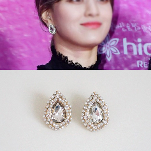 TWICE/JIHYO st. CUBIC WATER DROP PIERCE