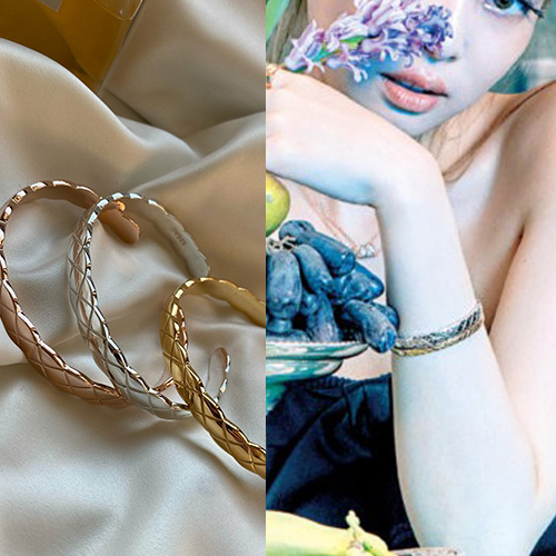 [UNISEX] BLACKPINK/JENNIE st. QUILTTED BANGLE BRACELET (3color)