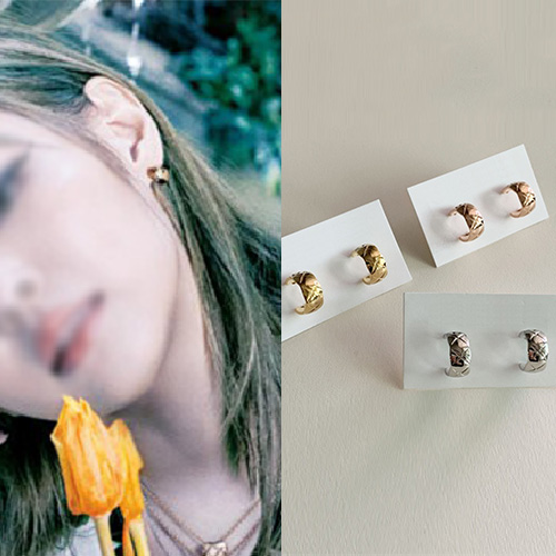 [UNISEX] BLACKPINK/JENNIE st. QUILTTED PIERCE (3color)