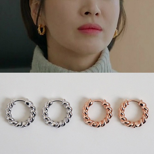 K-drama 'Encounter' Song Hyekyo st. TWIST RING PIERCE (2color)