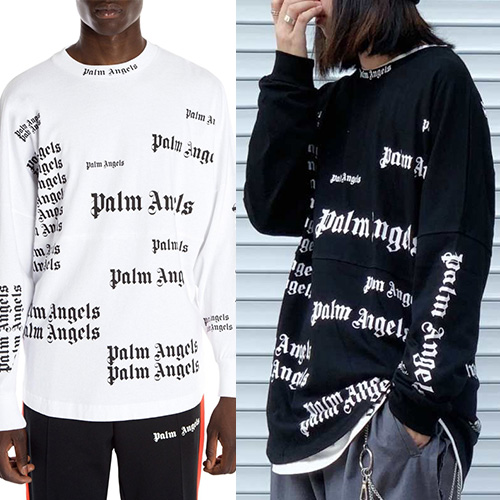 [UNISEX] ALL OVER LOGO LONG SLEEVE (2color)