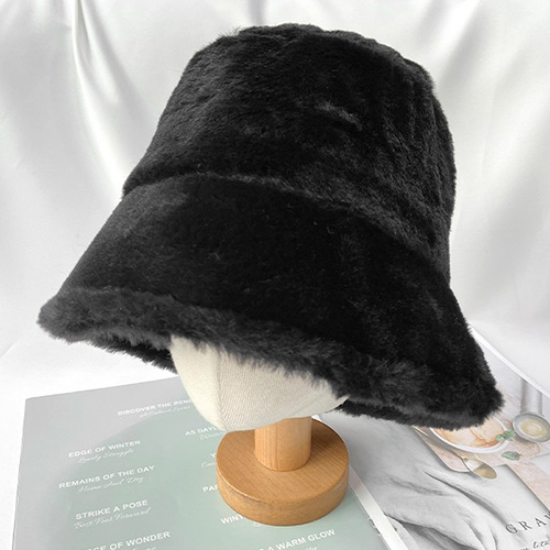 [UNISEX] FUR BUCKET HAT (3color)