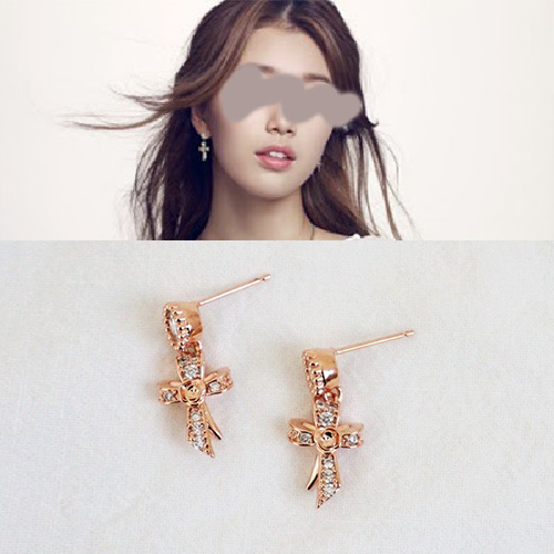 SUZY st. CUBIC MINI CROSS PIERCE