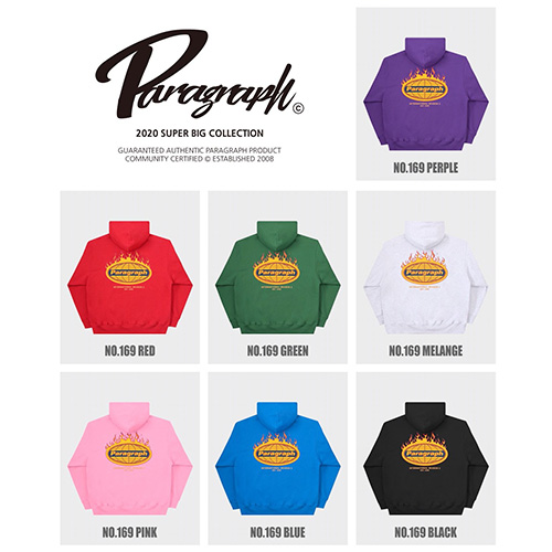 [Paragraph] Flame hoodie (7color)