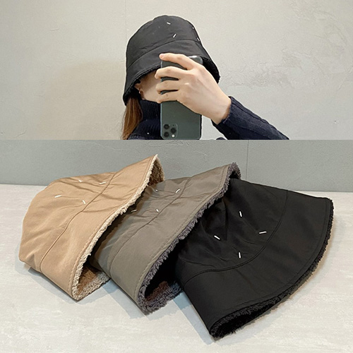 [UNISEX] STITCH WOOL BUCKET HAT (3color)