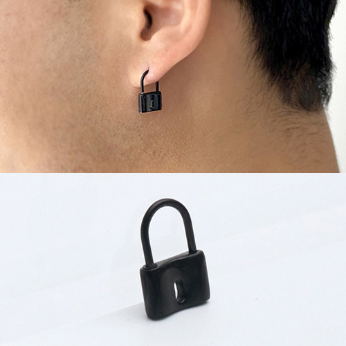 [UNISEX] SURGICAL STEEL FAKE LOCK PIERCING