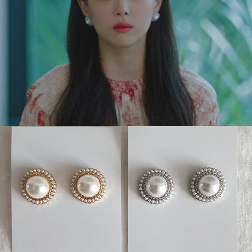 [K-drama/Hotel DELUNA/Sulli st.] BIG PEARL PIERCE (2color)