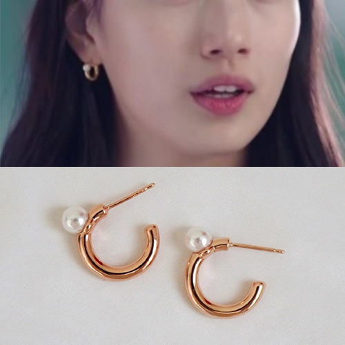SUZY st.  PEARL RING PIERCE