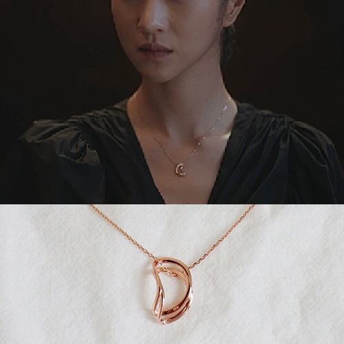 K-drama[It's Okay to Not Be Okay]/Seo Yeji st. D RING NECKLACE