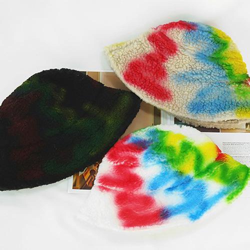[UNISEX] FLEECE PAINTING BUCKET HAT (3color)