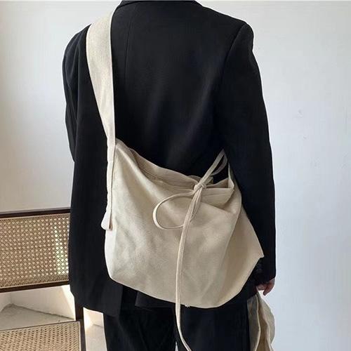 [UNISEX] CANVAS SHOULDER BAG (2color)