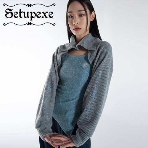 【SETUP-EXE】 Two-way collar Bolero CD [Melange Gray]