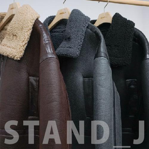 [STAND_J] SHORT LEATHER JACKET (3color)