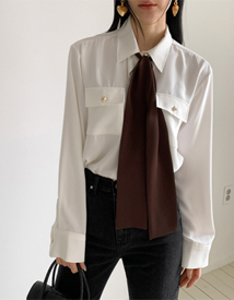 Eton ribbon blouse
