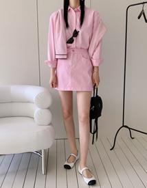 Dyeing mini skirt