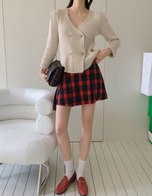 Tennis check skirt