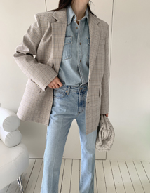 Easter check jacket