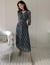 Belt long dress *slip set*