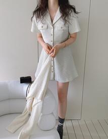 Lien  tweed dress