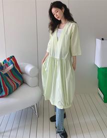 V-banding dress