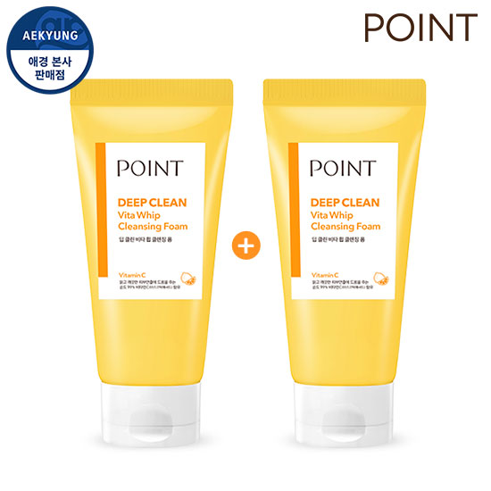 Point Deep Clean Vita Whip Cleansing foam 175gX2Piece