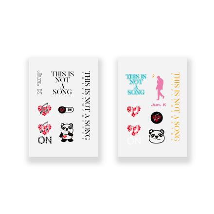 JUN. K (Junkei)-[THIS IS NOT A SONG] / TATTOO STICKER (Tattoo Sticker)