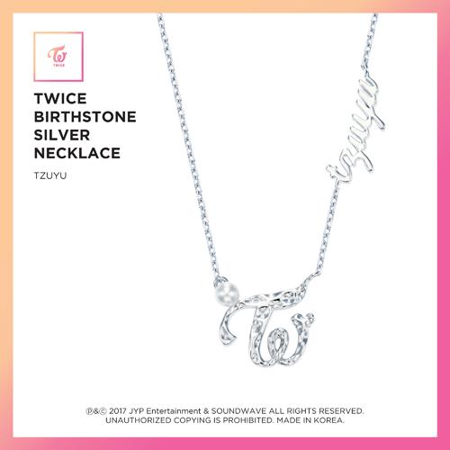 TWICE (트와이스)-TWICE JEWELRY COLLECTION LIMITED EDITION [BIRTHSTONE SILVER NECKLACE-TZUYU]