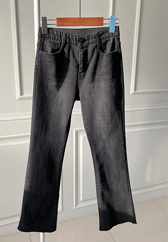 31867 - Banding Boot cut denim pants
