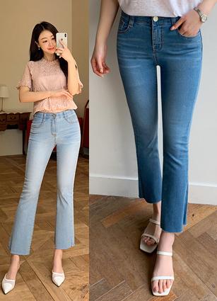 cool~wont secret banding bootscut jeans(1045)(S,M,L,XL) <br>