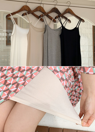 Soft Tencel Inner One-piece dress <br>