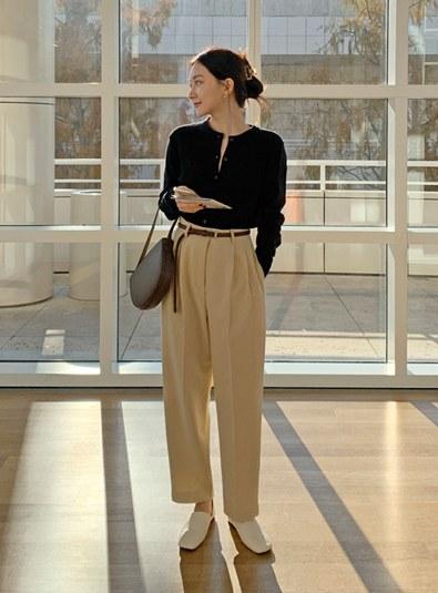 [Model recommendation ♥] Benn pintuck pants (*2color)