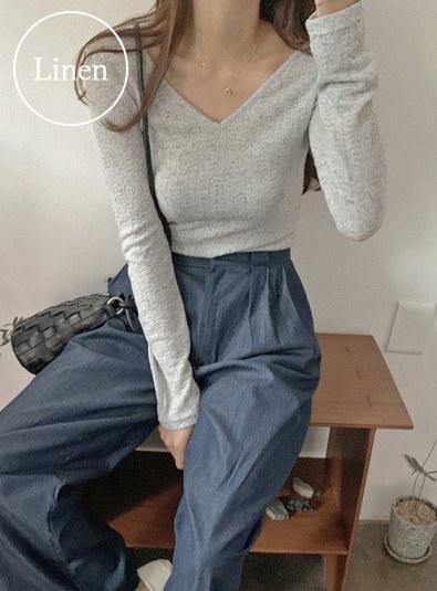 Salt V knit (*3color) Black Ivory