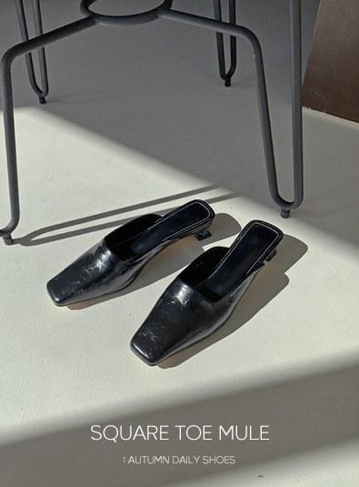 Robin Square Mule shoes (*3color)