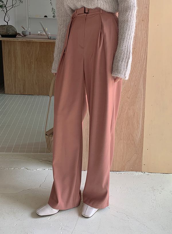 Elipintuck pants (*3color) Black s