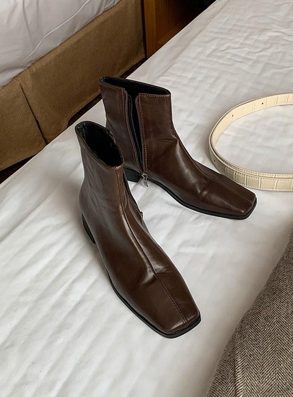 Square cut shoes (*2color)