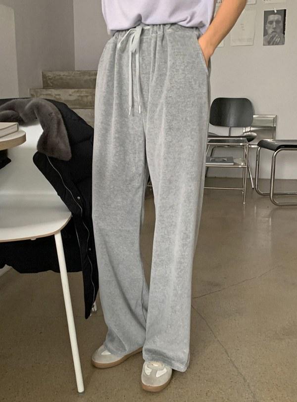 [Hair band] Mellings Velvet pants (*4color)