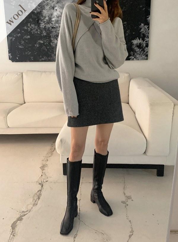 [Wool wool 90] Adele Mini sk (*2color) Mint m