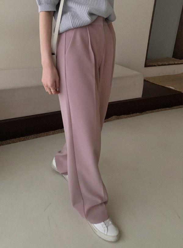 Fion Slacks pants / Pink m